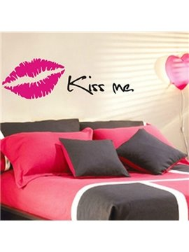 Kiss Me with Sexy Lips Wall Stickers