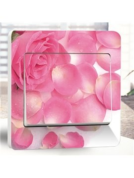 Romantic Fragrant Flowers Light Switch Wall Stickers