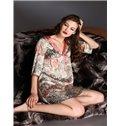 High Quality Silk Flower Sleepwear