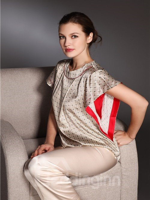 High Quality Graceful and Comfortable Silk  Homewear