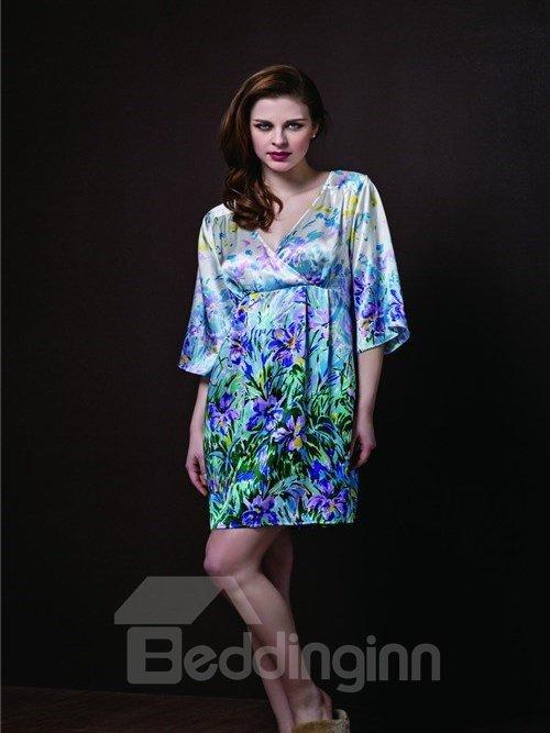 High Quality Beautiful Printing Skincare Sleepwear