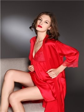 New Arrival High Quality Soft and Comfortable Sexy Lace Border Sleepwear