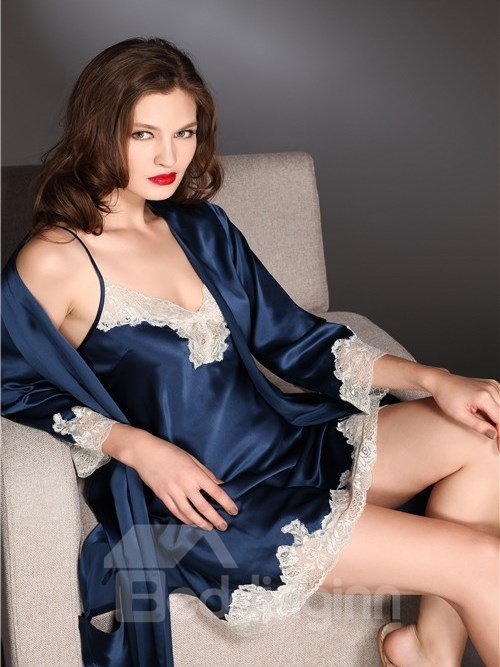 High Quality Beautiful and Sexy Lace Border Sleepwear