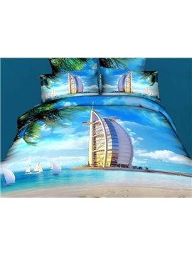 Burj Al Arab Hotel under the Blue Sky Print Duvet Cover Sets