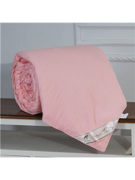 High Quality Graceful and Classic Pink Silk Quilt(1.5kg)