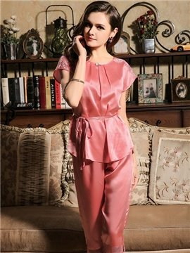 New Arrival Lacey & Exotic Skincare Silk Loungewear