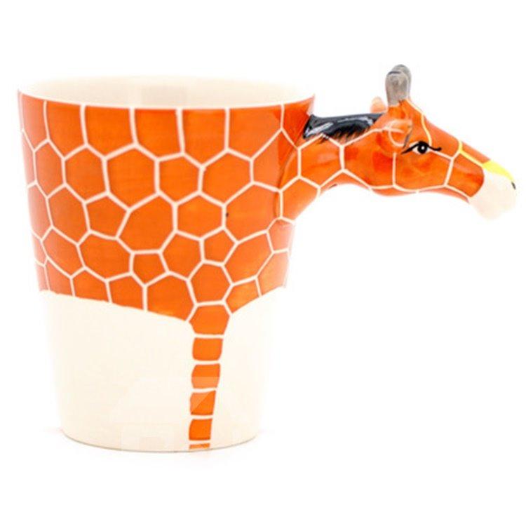 New Arrival Amazing Hand-painted 3D Ceramic Giraffe Creative Mug