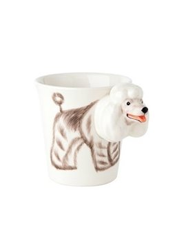 New Arrival Tempting Hand-painted 3D Ceramic Poodle Creative Mug