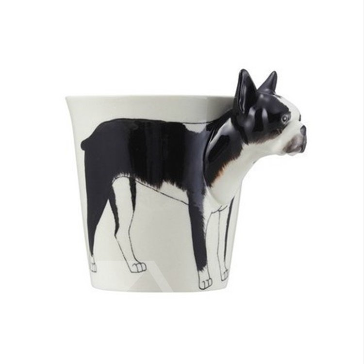 New Arrival Hand-painted 3D Ceramic Bulldog Creative Mug