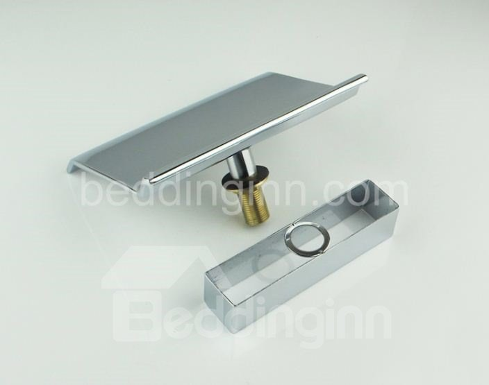 New Arrival Contemporary Style Widespread Waterfall Chrome Finish Bathtub Faucet