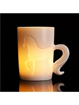 New Arival Stylish Creative 3D Ceramic Horse Coffee Mug
