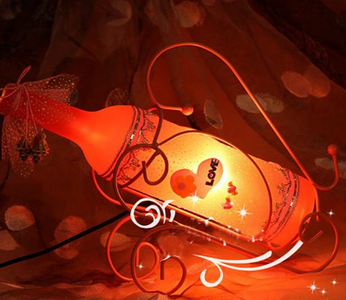 Classic Wine Bottle Design DecorativeTable Lamp
