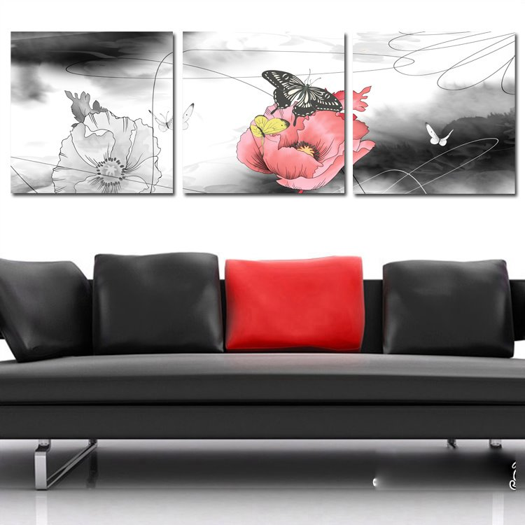 New Arrival Flowers & Butterflies Cross Film Wall Art Prints