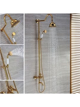 Top Selling High Quality Round Shower Head Gold Bathtub Faucets
