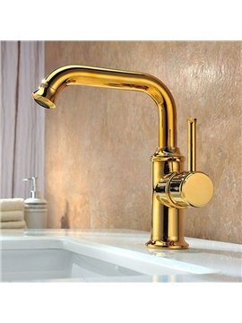 New Arrival High Quality Gold Hot and Cold Ajustable Bathroom Sink Faucet