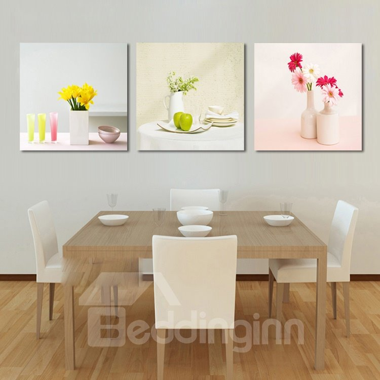 New Arrival Fragrant Flowers In The Bottle Cross Film Wall Art Prints
