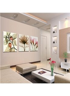 New Arrival Graceful Flowers Cross Film Wall Art Prints