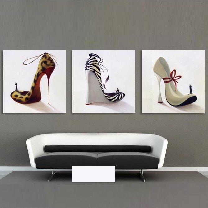 New Arrival Fashionable High-heeled Shoes Cross Film Wall Art Prints