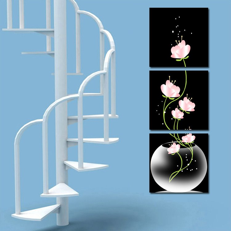 Fragrant Pink Flowers In the Glass Cross Film Wall Art Prints