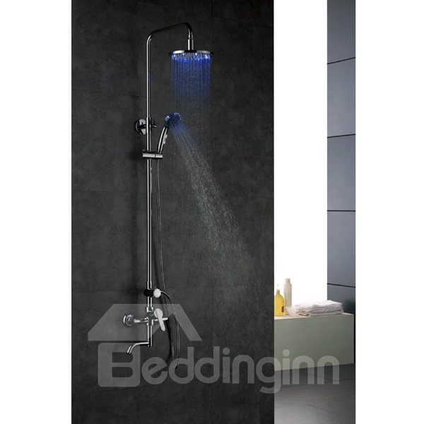 High Quality LED Color Changing By Temperature Shower Head Faucet
