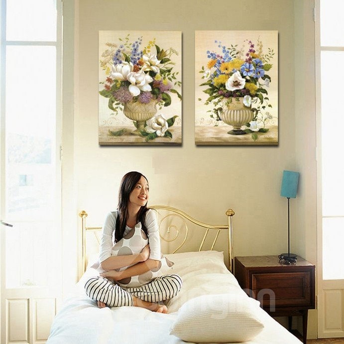 New Arrival Various Delicate Flowers In The Bottle Cross Film Wall Art Prints