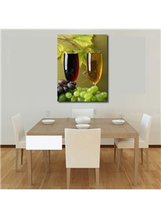 New Arrival Purple And Green Grapes And Red Wine Film Wall Art Prints