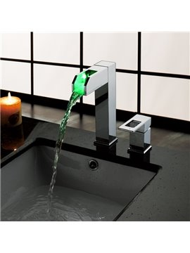 Popular High Quality LED Color Changing Bathroom Sink Faucet
