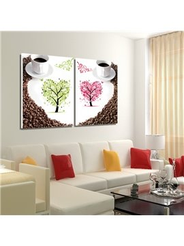New Arrival Trees And Coffee With Coffee Beans Surrounded Film Wall Art Prints