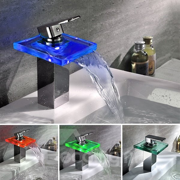 New Arrival Temperature Control LED Colorful Bathroom Sink Faucet