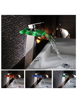Top Selling Amazing Temperature Control Colorful LED Bathroom Sink Faucet