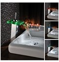 Contemporary Hot Selling LED Color Changing Bathroom Sink Faucet