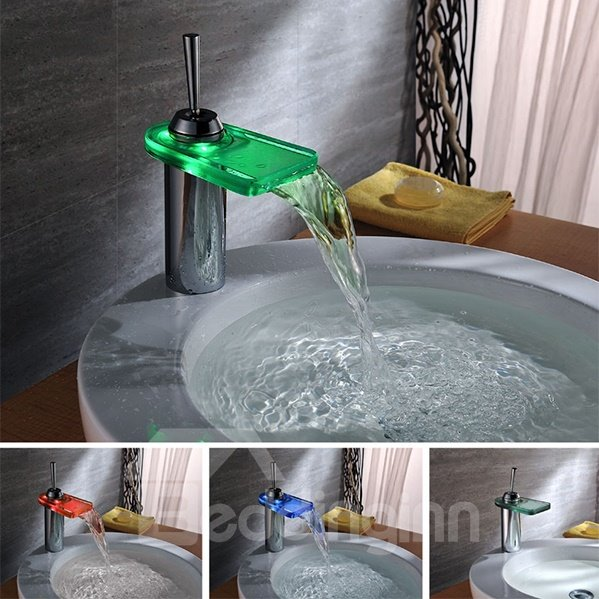 New Arrival Amazing LED Color Changing Bathroon Sink Faucet