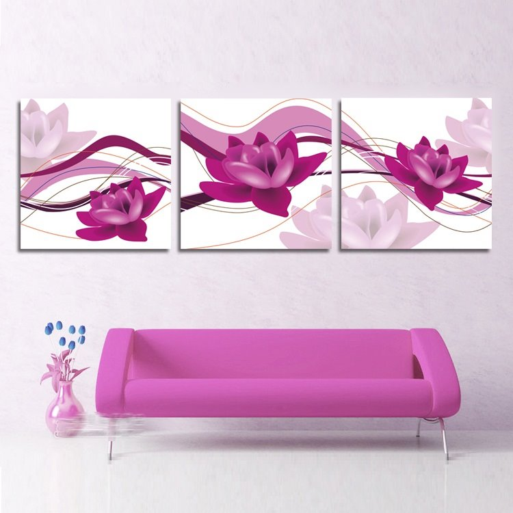 Pink Fragrant And Beautiful Flowers Pattern Film Wall Art Prints