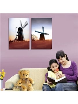New Arrival Windmill And Sunset Film Wall Art Prints
