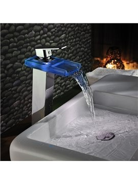 High Quality Tempting LED Color Changing Bathroom Sink Faucet