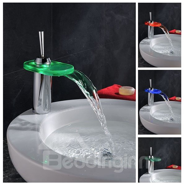 Hot Selling High Quality LED Color Changing with Temperature Bathroom Sink Faucet
