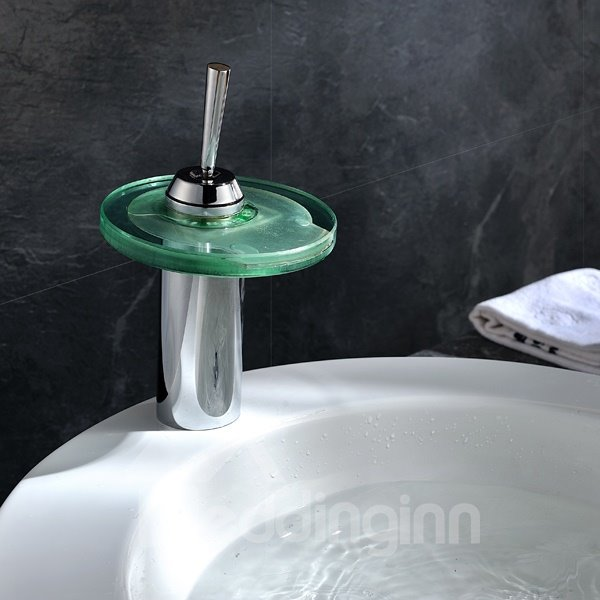 New Arrival High Quality LED Color Changing Round Bathroom Sink Faucet