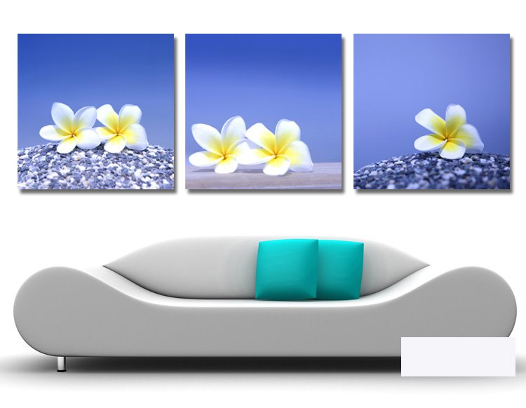 New Arrival Elegant White And Yellow Flowers Film Wall Art Prints 10918851