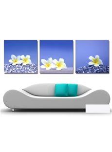 New Arrival Elegant White And Yellow Flowers Film Wall Art Prints