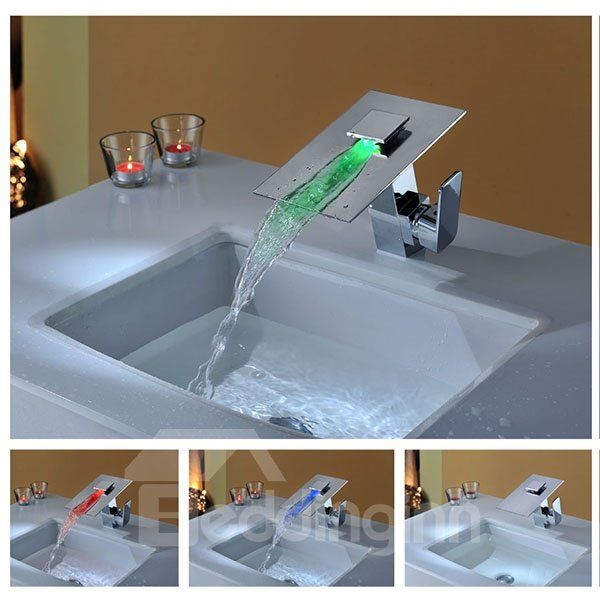 Top Selling Charming Temperature Control Colorful LED Bathroom Sink Faucet