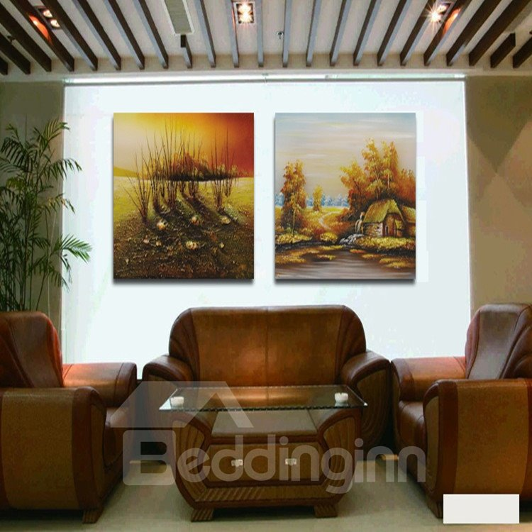New Arrival Remote Quiet Village With Beautiful Scenery Film Wall Art Prints