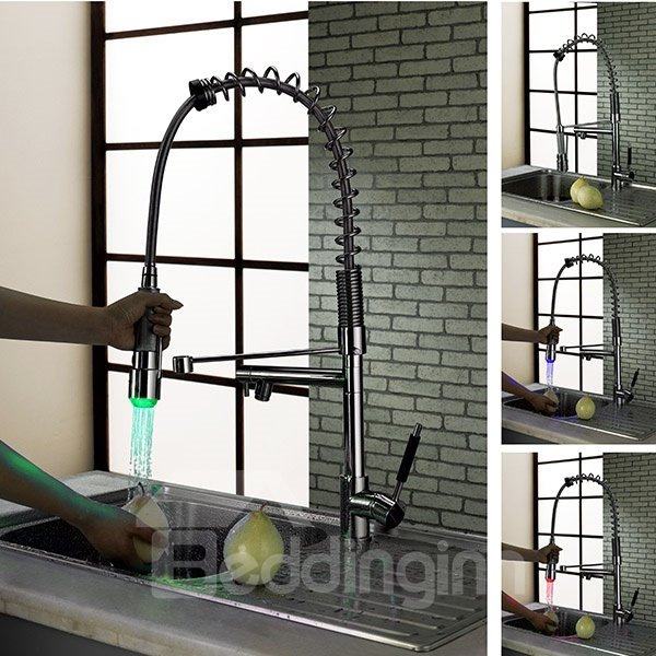New Arrival High Quality Gorgeous LED Color Changing Kitchen Faucet