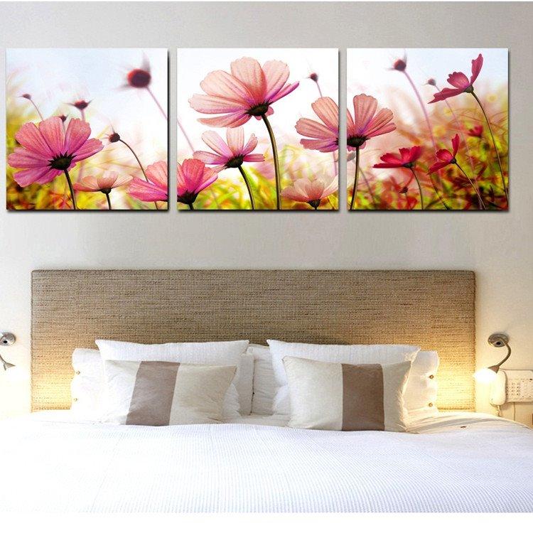 New Arrival Beautiful Flowers Under Sunshine Film Wall Art Prints