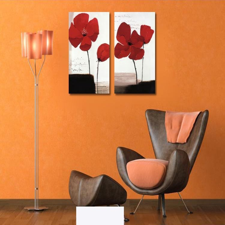 New Arrival Small Red Flowers Film Wall Art Prints
