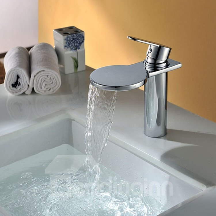 New Style High Quality Round Head Waterfall Bathroom Sink Faucet