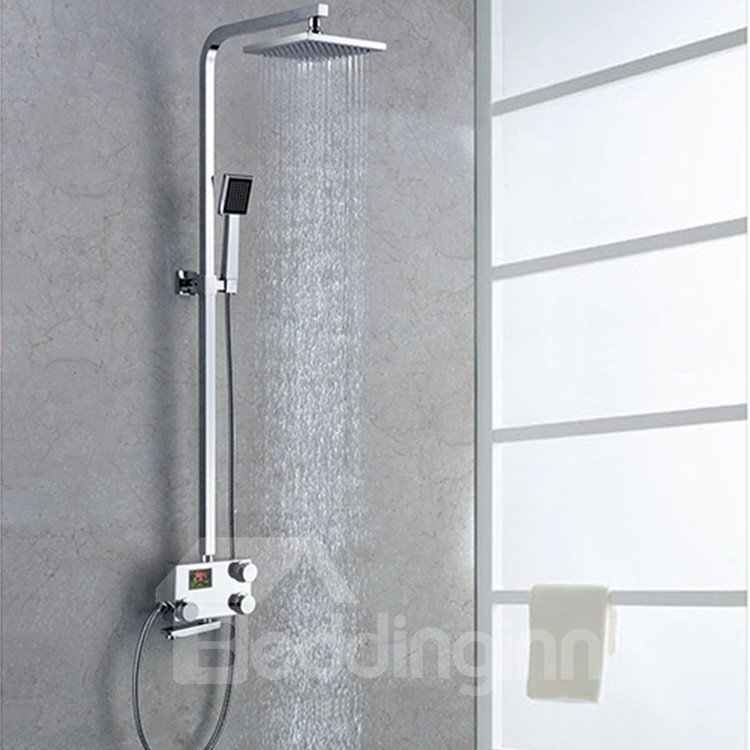 Simple Style High Quality Thermostatic Digital Display Shower Head Faucet