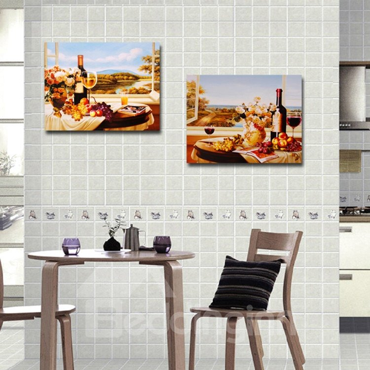 New Arrival Abundant Food And Flowers On The Table Film Wall Art Prints