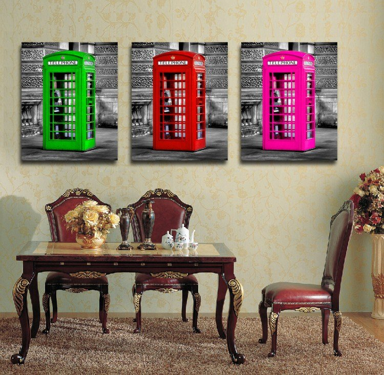 New Arrival British Telephone Booth Film Wall Art Prints