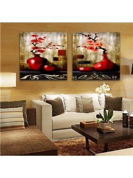 New Arrival Red Blooming Flowers In The Red Bottle Film Wall Art Prints