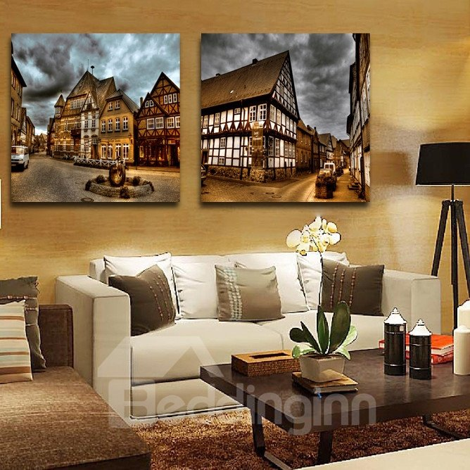 New Arrival Ancient Architecture And Dark Clouds Film Wall Art Prints